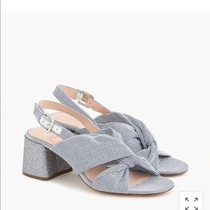 Used, J. Crew Twisted-knot Penny sandals Low HeelNWT for sale